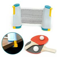 Table Tennis Kit Portable Retractable Ping Pong Set Net 2 Bats Expandable Net