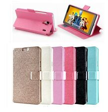 Leather Flip Card Pocket Case Cover for Samsung Galaxy Note 4