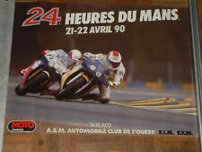 Affiche 24 Heures du Mans Moto 1990 HONDA POSTER  Photo Lacombe