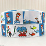 "GROSGRAIN DR. SEUSS THING 1 THING 2 1"" PRINTED GROSGRAIN FOR HAIR BOWS DIY CRAFT"