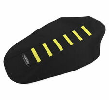 SDG 6-Rib Gripper Seat Covers Yellow Ribs, Black Top and Sides 95942YK