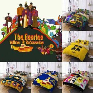 3D The Beatles Yellow Submarine Bedding Set Duvet Cover Pillowcase UK Size.