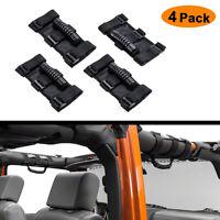 Fit Jeep Wrangler JL JK TJ Black Roll Grab Handles Bar Off Road Accessories 4pcs