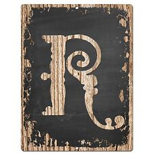 PP02330 Alphabet Initial Name Letter R Chic Sign Bar Shop Store Home Room Decor
