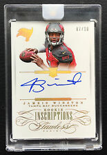 #/10 Jameis Winston 2015 Flawless Rookie Inscriptions Gold Auto RC Encased