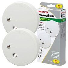 2 x KIDDE LIFESAVER Smoke Detector Fire Alarm Ionisation Batteries Included 9040