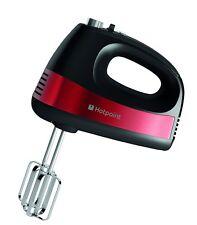 Hotpoint Hand Held potente 5 velocidad 300W Mezclador De Pastel Twin Wisk Licuadora Rojo Negro