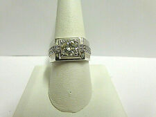 moissanite ring sterling silver sz 10 wgt 5.6 grams  tcw 1.78