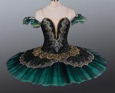 Professional Deep Green Ballet Tutu Costume Gypsy Esmeralda YAGP Bust 30-33 M