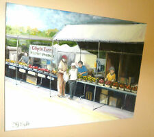 Farmer's Market Fresh Produce  Original Oil Painting Large New Smyrna Volusia