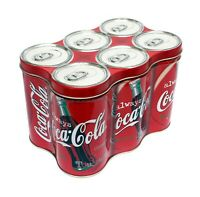 1998 Vintage Coca Cola 6 Pack Collectors Tin Container Coke