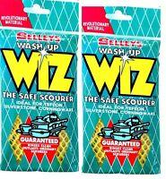 2X Selleys Wash Up Wiz New Wiz The Safe Scourer For Daily Use-Original Selleys