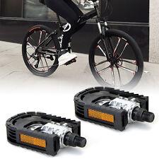 Paio Pedale Plastico Nero Pieghevole per Bici MTB Stradale