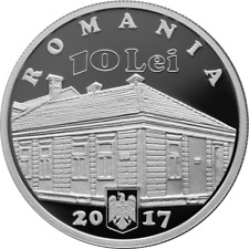 ROMANIA 10 LEI 2017 SILVER coin Jewish Rumänien Elie WIESEL Holocaust Survivor