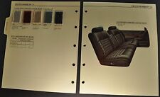 1994 Mercury Grand Marquis Color Upholstery Book Section Brochure Excellent Orig