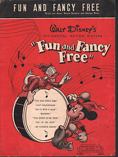 Fun and Fancy Free 1947 Disney Fun and Fancy Free Sheet Music