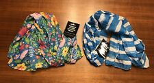 Easter Spring Floral Stripe Women's Scarf - Lot of two - NWT