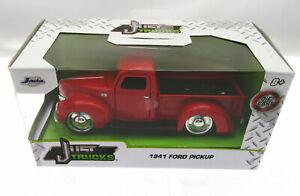 1941 Ford Pickup ~ Red ~ Die Cast Metal ~ Just Trucks ~ 1:32 Scale