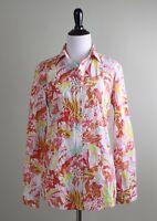 J. MCLAUGHLIN NWT $168 Lois Blouse Aloha Floral Cotton Shirt Top Size XS