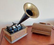 New ListingWorking Original Complete Edison Cylinder Phonograph Model A Antique Green Oak