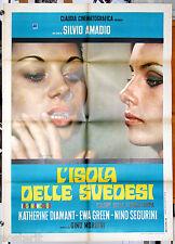 manifesto 2F originale L'ISOLA DELLE SVEDESI Catherine Diamant Eva Green 1969