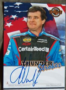 Nascar Star Joe Nemechek 2007 Press Pass Wheels Thunder Strokes Auto Card