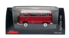 """Schuco Volkswagen  T2a Bus """"Luxus-Bus"""", red white 1:43 (450333900)"""