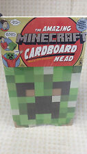 "Official Minecraft Creeper Cardboard Head Mask Costume 12"" SEALED"