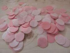 Bébé Rose, Blanc Cercles Mariage Confettis/parti célébration décoration bio
