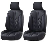 Deluxe Black PU Leather Front Seat Covers Cushion For Vw Golf Polo Passat Jetta