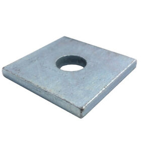 M12 Square Plate Washer Hot Dip Galvanised - (Box of 100)
