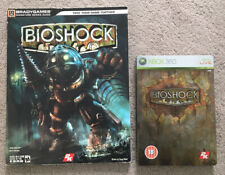 BIOSHOCK COLLECTORS EDITION STEELBOOK GAME & BIOSHOCK OFFICIAL GUIDE - XBOX 360