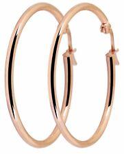 Titanium Titan Ohrhänger Ohrringe Creolen Kreolen dünne Damen rose vergoldet 35
