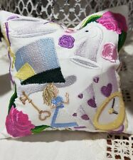 Pin cushion - Embroidered Alice in Wonderland.