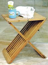Design Bambus Klapphocker - Holz Hocker Klappstuhl Stuhl Beistelltisch klappbar