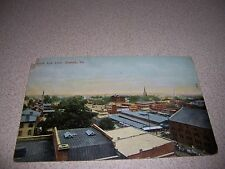 1911 BIRD'S-EYE VIEW NORFOLK VIRGINIA ANTIQUE POSTCARD
