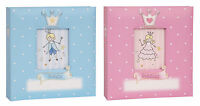 Prince / Princess Baby Girl Boy Polka Dot 6 x 4 Pink Blue Photo Album Holds 200