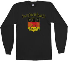 Deutschland Eagle Emblem Men's Long Sleeve T-Shirt Germany German Flag