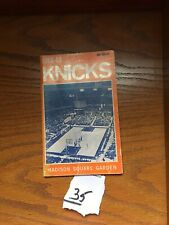 1968-69 NEW YORK KNICKS OFFICIAL GUIDE AND RECORD BOOK
