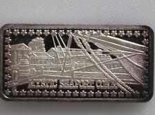 1974 Mystic Seaport CT Silver Art Bar Hamilton Mint Wonders of America P0524