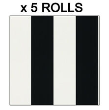 Black White Stripe Wallpaper Classic Striped Stripey Bold Metallic Bulk 5 Rolls
