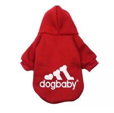 Hundebekleidung Hundeshirt Pullover Hoodie Chihuahua Kleinhund Dogbaby Rot Gr. S