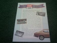 1963 1988 FORD CREDIT 25 YEARS UK BROCHURE Cortina Capri Fiesta Granada Sierra