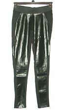 Abbey Dawn NEW Black Faux Leather Front Skinny Legging Pants Juniors Sz M $48