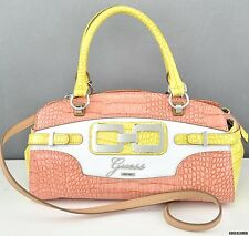 NWT Handbag GUESS Mikelle Satchel Bag Coral Ladies