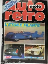 Revue AUTO RETRO moto magazine n° 41 - janvier 1984 collection facel vega french