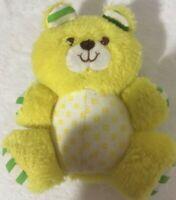 "KB Bros Teddy Bear Plush Yellow Green Striped Ears 6"" Geometric Stuffed Animal"