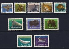 Canada Postage Stamps Fine Used Native Animals & Mammals (10v).