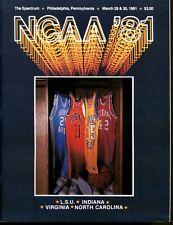 1981 Final Four 4 Program Indiana Virginia North Carolina LSU The Spectrum NMT