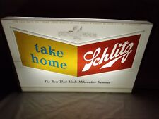 Schlitz Beer Lighted Bar Tavern Sign 1950's vintage